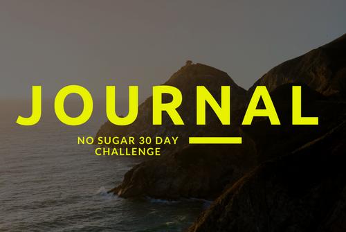 quitting sugar journal