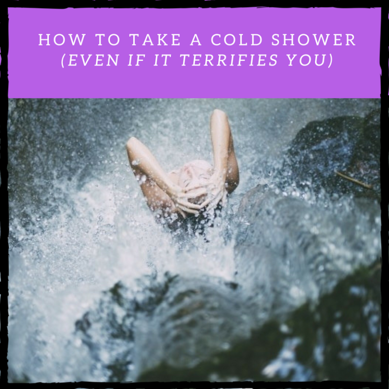 how to take a cold shower