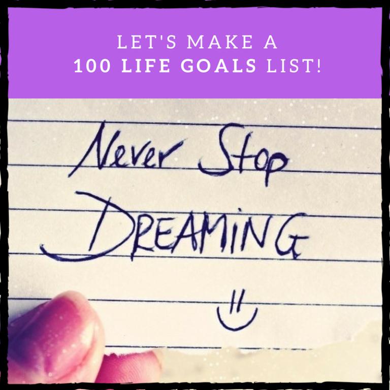 100 life goals list